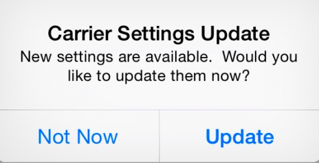 Update Carrier