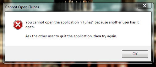 Cannot Open Itunes