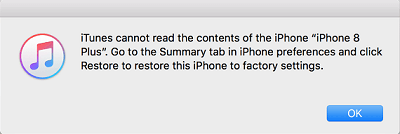Itunes Cannot Read Contents Of Iphone