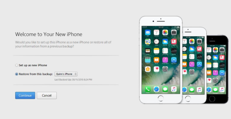 Set up as New iPhone