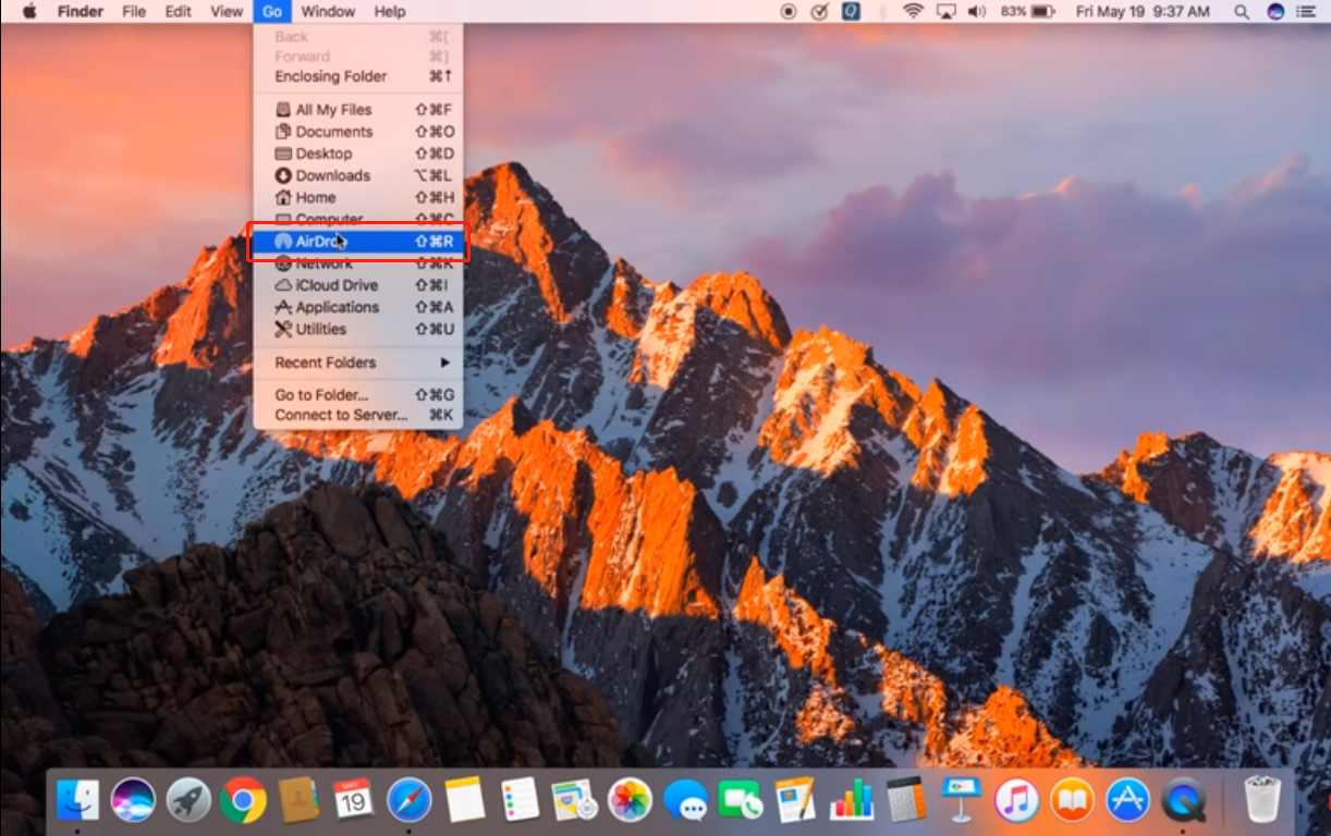 Enable AirDrop On Mac