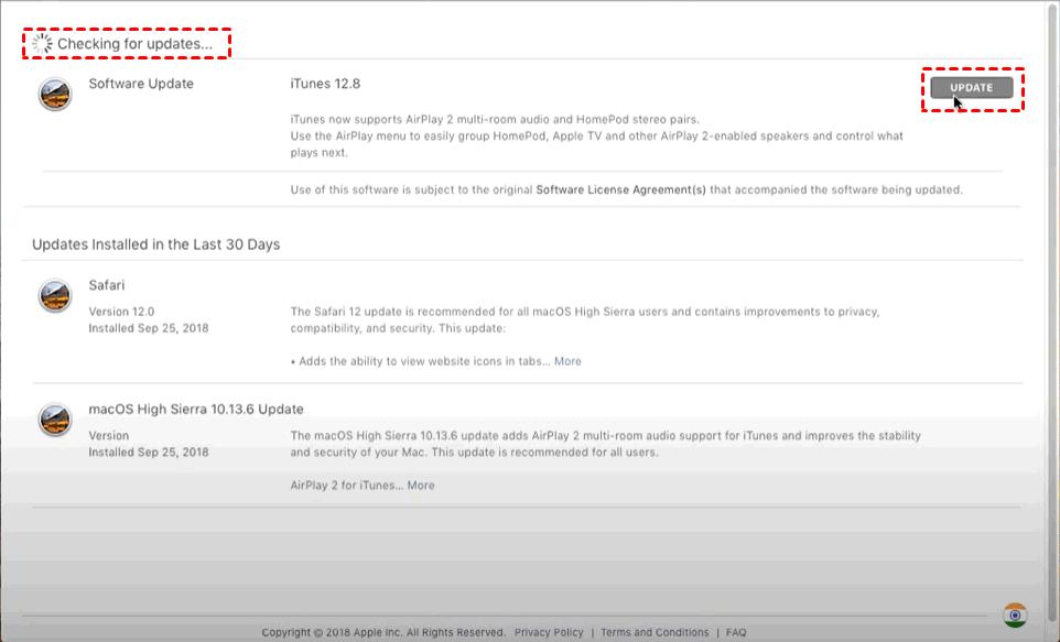 Itunes Check Update Mac