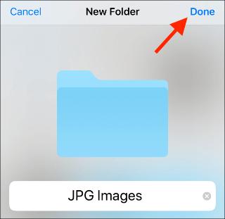Files App New Folder