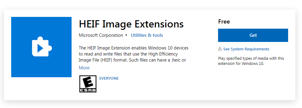 HEIF Image Extensions