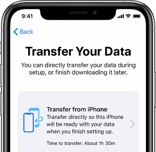 Select Transfer from iPhone