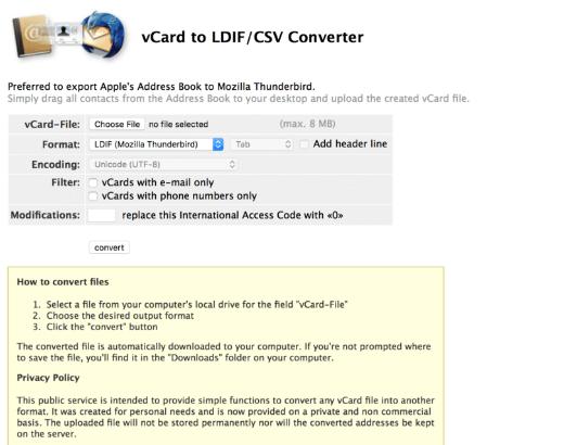 CSV Converter Website