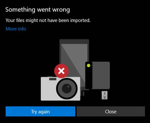 Import Photos from iPhone to Windows 10 Not Working