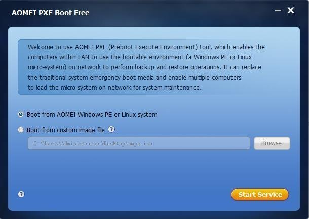 AOMEI PXE Boot Tool – Boot Many Computers In LAN Easily