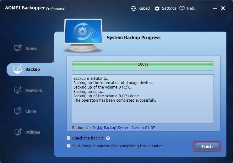Backup Progress