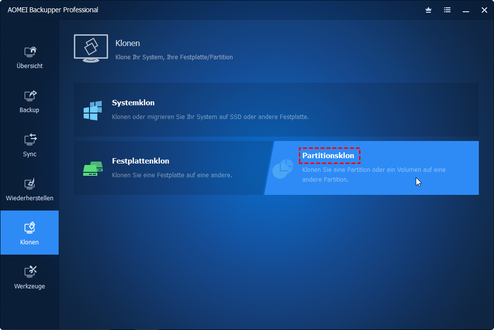 Recovery Partition klonen