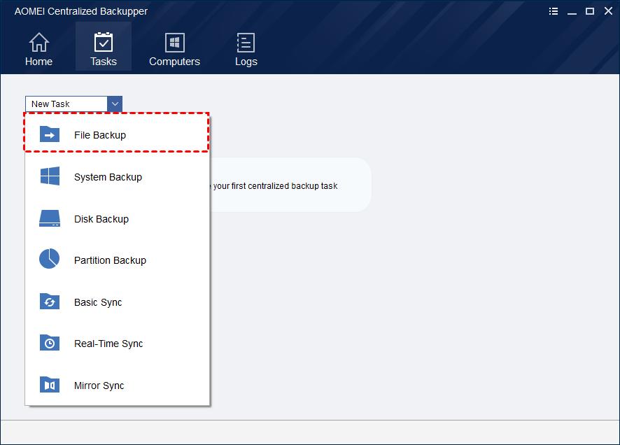 File Backup Select