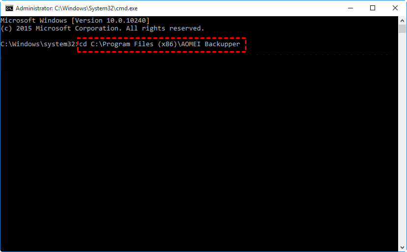 Backup Using Command Line