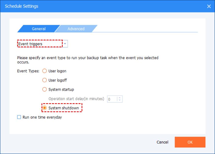 Event Triggers System Shutdown
