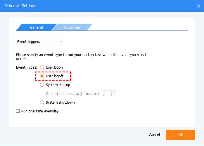 Event Triggers User Logoff