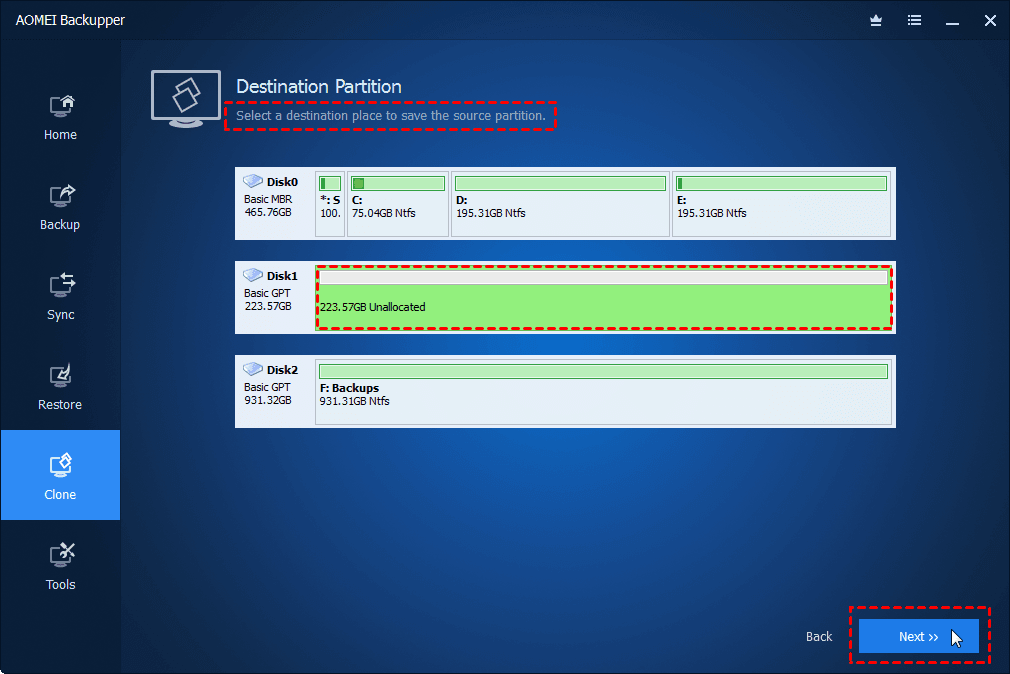 Select New SSD