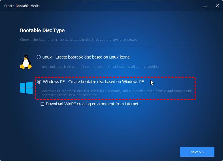 WinPE Based Bootable Media