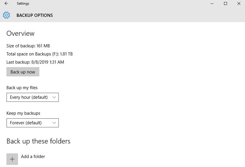 Backup Options