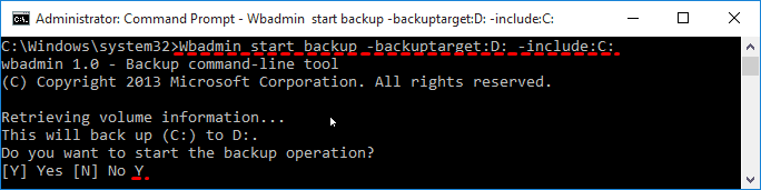 Wbadmin Backup C Drive