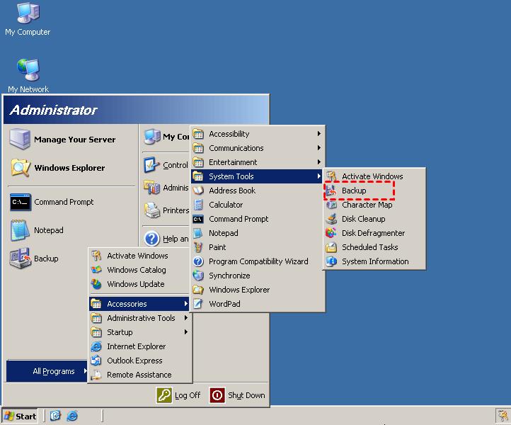 Select backup tool