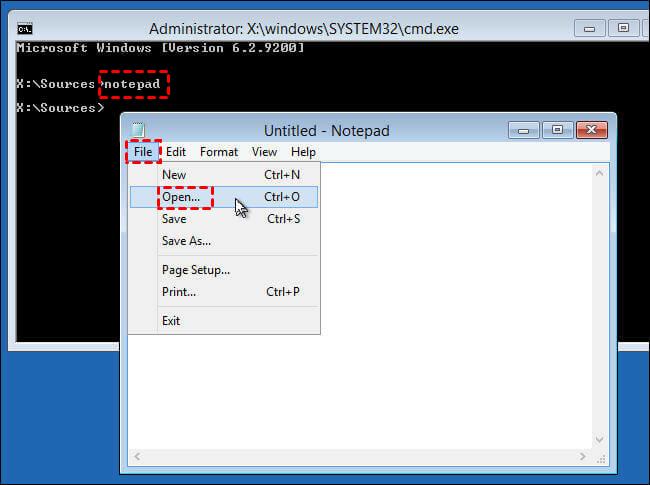 Backup Files using Notepad