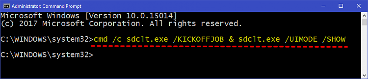 Backup Files using SDCLT