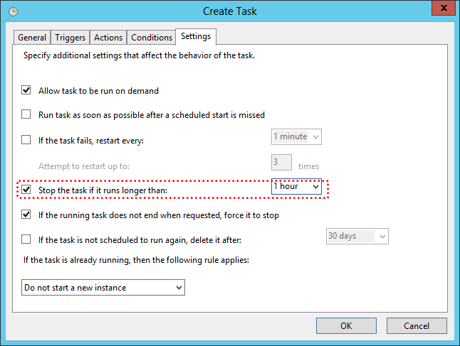Create Email Notification Success Task Settings