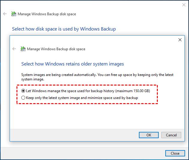 Choose How Windows Retains Images