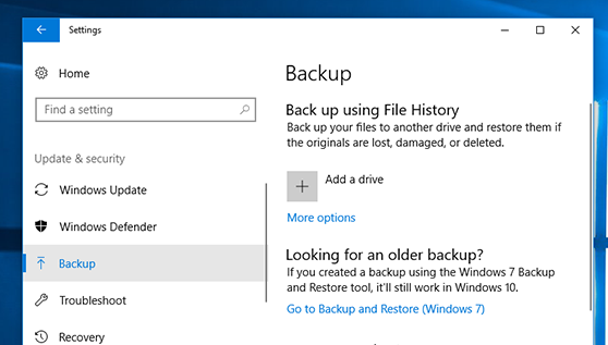 File History Backup Steps