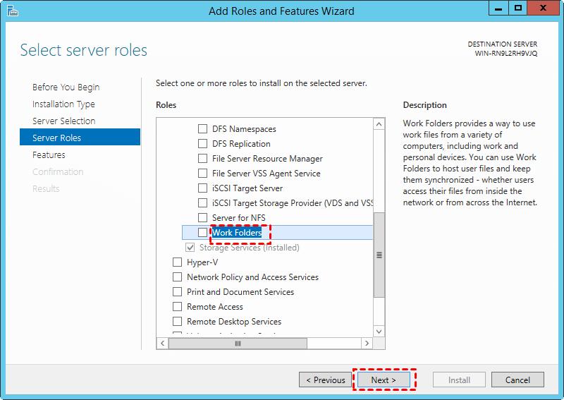 Install Work Folders