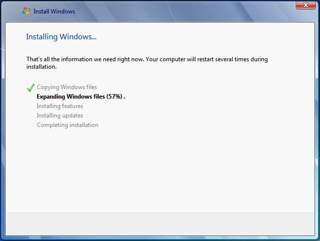 Start Installing