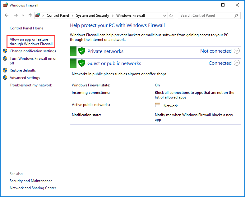 allow Remote Assistance in Windows Firewall