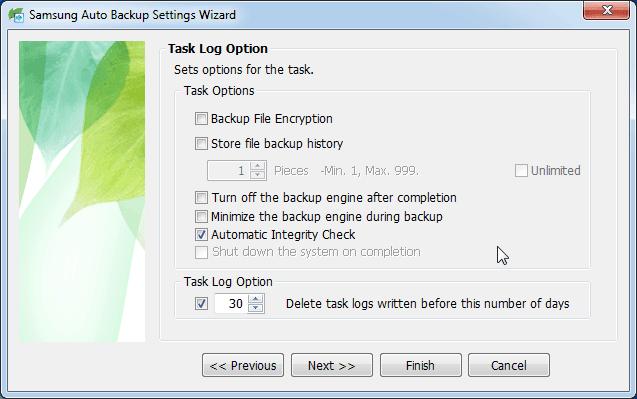 Task Log Option