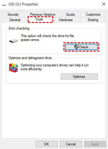 Disk Error Checking