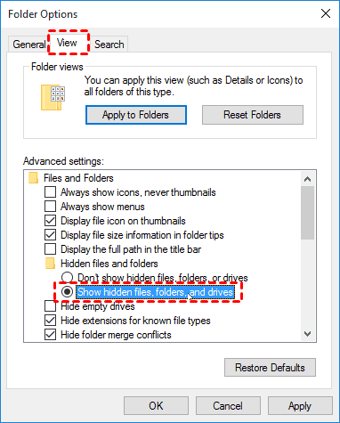 Show Hidden Files Folders