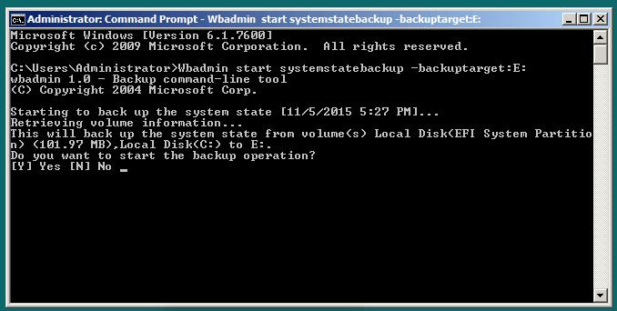 System State Backup Cmd