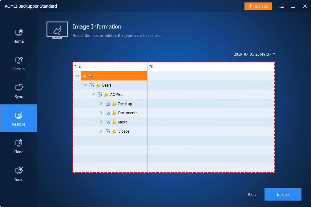 Select Folders Files