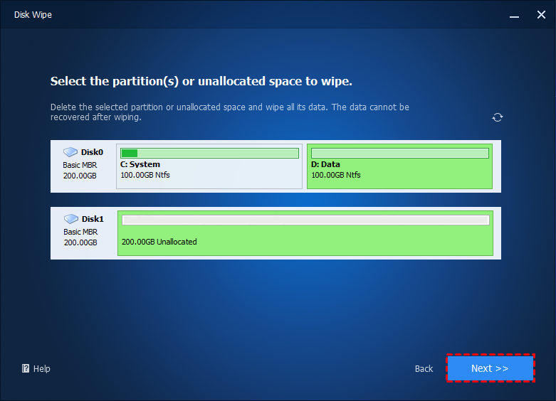 Wipe Data Partitions