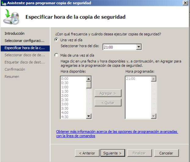 programar copia de seguridad