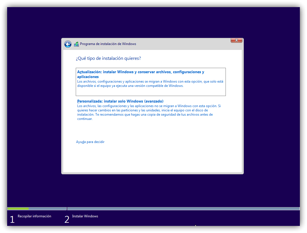 Instalar Windows 10 1