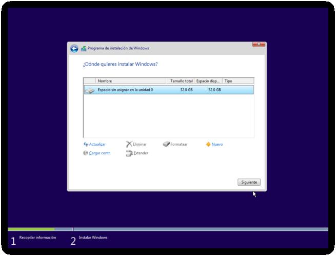 Instalar Windows 10 2