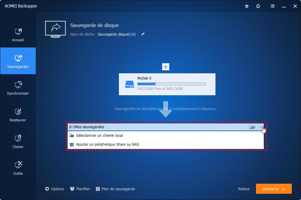 Comment sauvegarder windows server 2016