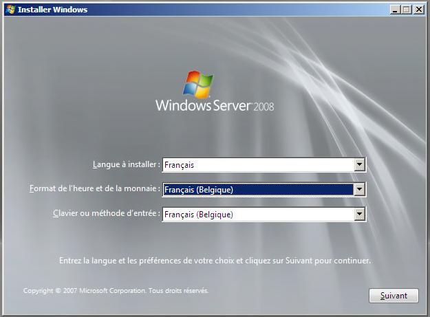 installer windows server