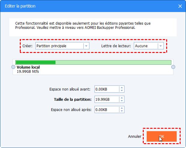 Editer la partition