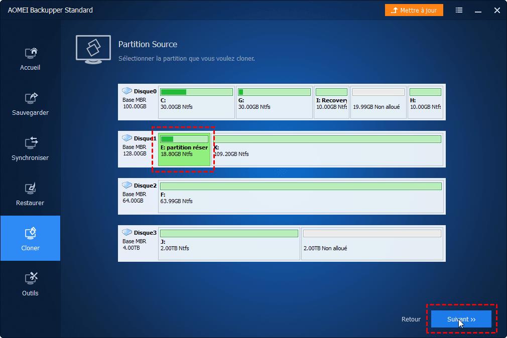 partition réservée au système