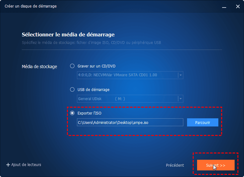 Exporter le fichier ISO