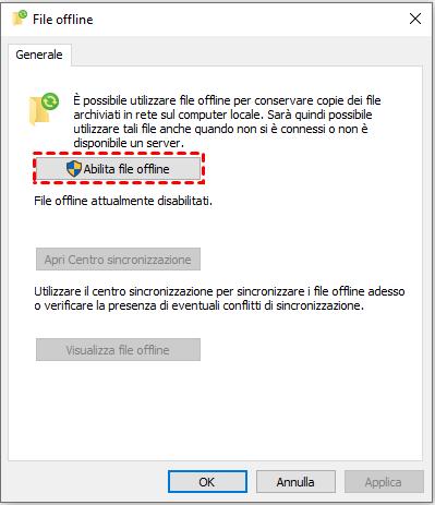 Abilita file offline