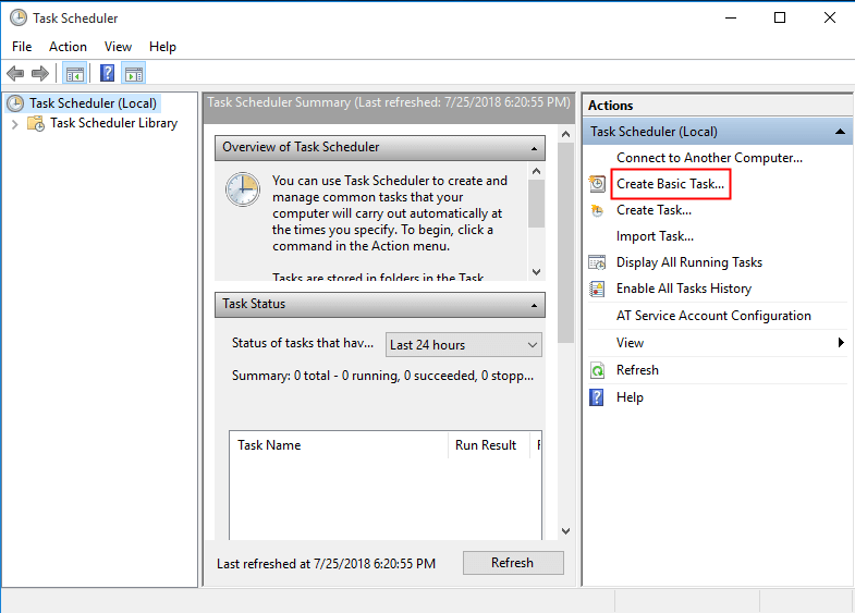 How to Schedule SyncToy in Windows 10 to Run Automatically?