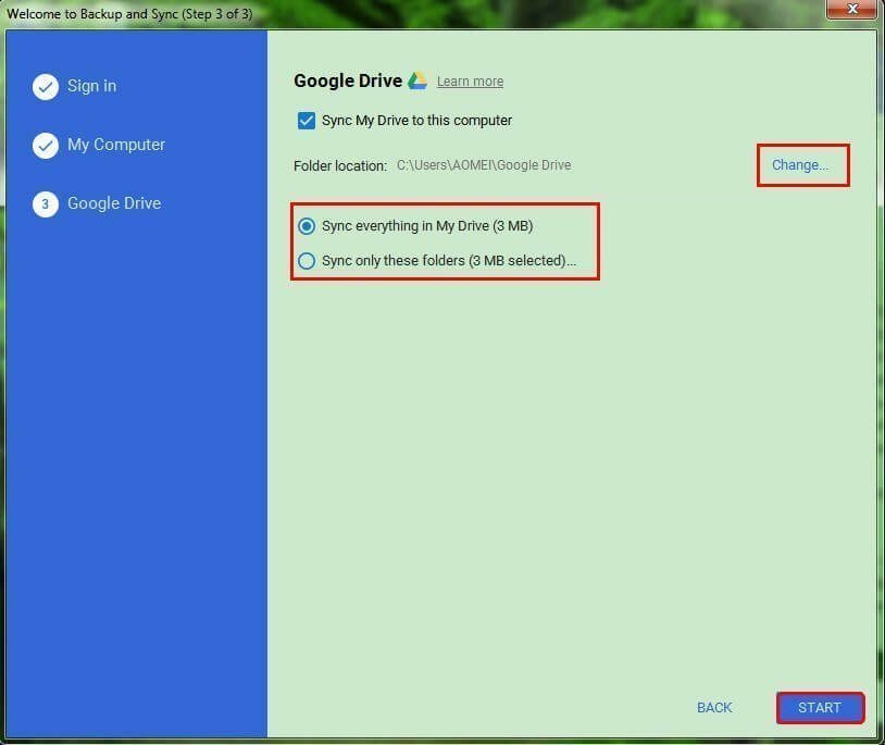 google drive backup and sync