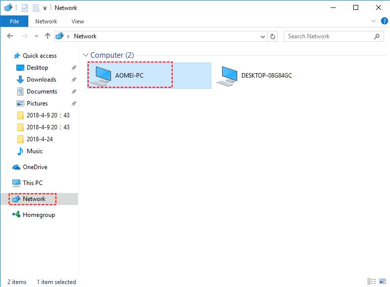 Access Shared Folder