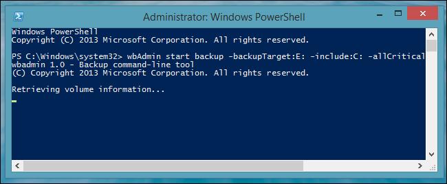 Create System Backup Image